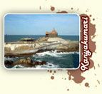 Kanyakumari- the southernmost tip of India is the meeting place of Arabian Sea and Indian Ocean and the Bay of Bengal